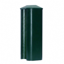 Classic Green Eco Plastic Slotted Fence Post